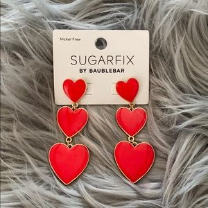 Dangle heart earrings! 🥰